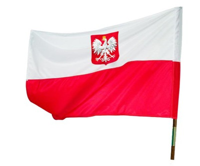 БАНДЕРА польский   НАЦИОНАЛЬНАЯ 112x70cm TEXICO