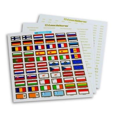 Leuchtturm - наклейки / Флаги стран Евро + описания