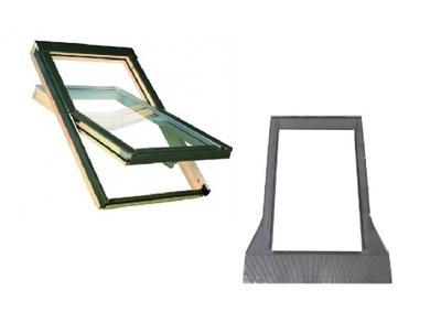 Окно-окна крыши OptiLight B 66x98 см + воротник