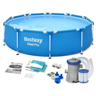Bazén pre rack montáž záhradného čerpadla Bestway 305x76 8-in-1