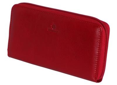 4f03270640970 SKÓRZANY! PORTFEL czerwony KRENIG El Dorado 11022 - 7076369142 ...