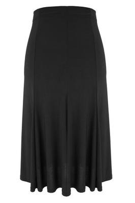 Czarna spódnica syrenka z przeszyciami 48