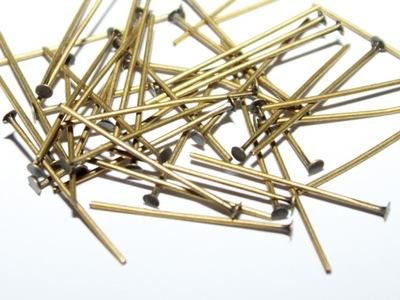 булавки гвозди 35мм 100шт старые золото винтаж