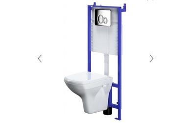 Nastaviť 5in1 CERSANIT rám+WC+sedadlá+tlačidlo