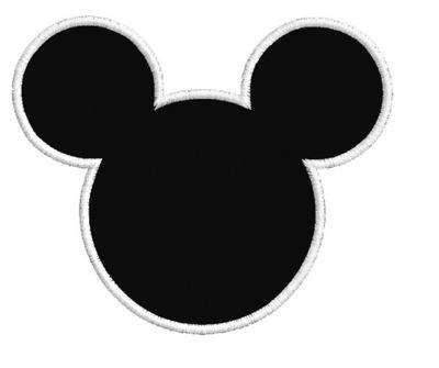 Мышь Микки Маус Полоса термо 80x67mm