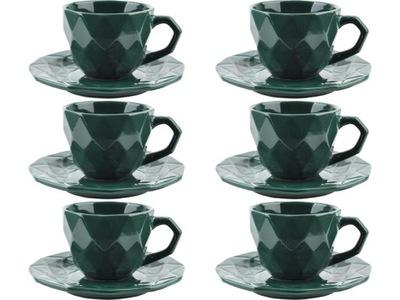 чашка 260ml с тарелкой 15 ,5 см - 6 штук GREEN