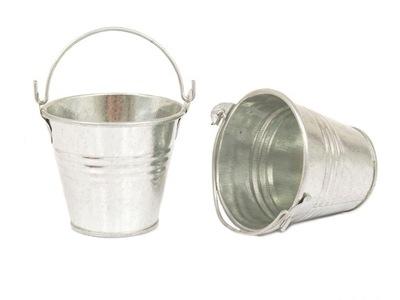 5 ,5 см мини горшок ведро ЦВЕТЫ серебряные