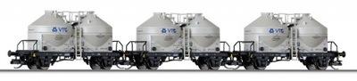 3 x вагон-силос Ucs VTG DB AG ep. V, TT, Tillig
