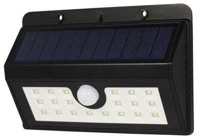 Vonkajšie svietidlá - BOA solarna lampa 20 LED z czujnikiem ruchu