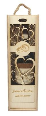 деревянная коробка вино коробка подарок гравер