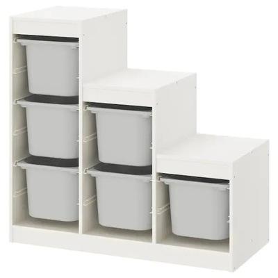 Икеа стеллаж контейнеры ТРУФАСТ 99x44x94 Белый /Серый
