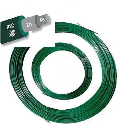 проволока путем затягивать ПВХ зеленый 50mb Сетка OGRODZENIOW
