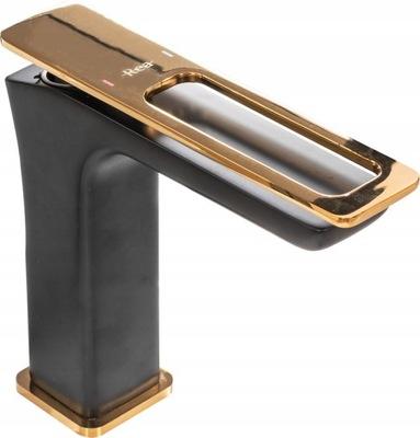 SOHO umývadlová batéria s čiernym zlatom HIT
