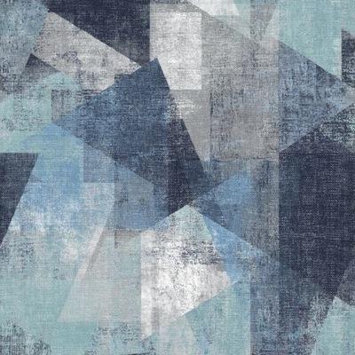 Tapeta flizelinie Geometria Niebieska Szara pp3601