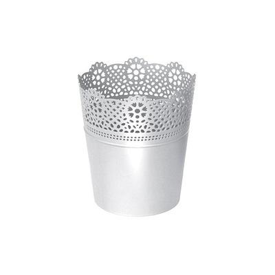 Ażurowa Doniczka Osłonka LACE DLAC115 biały