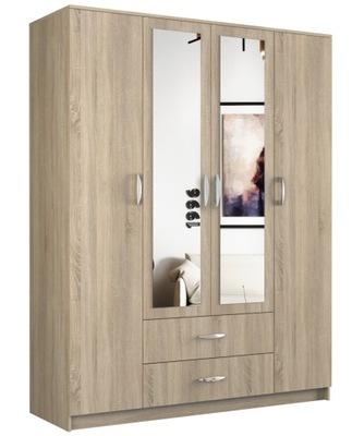 шкаф ROMANA двери зеркало 2 ящик 160СМ сонома