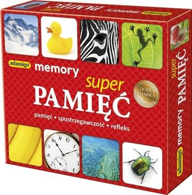 Memory Super Pamięć Gra Pamięciowa Memo Adamigo