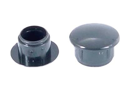 10 мм -заглушка ОТВЕРСТИЯ ТЕХНОЛОГ- Антрацит 100 штук