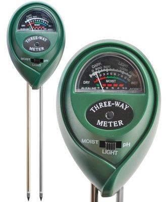 измеритель кислотности Измеритель для pH Почвы, Земли, Света 3 в 1