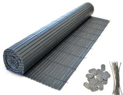 OBOJSTRANNÉ PVC BALKONOWA 0.9 x 3 m antracit