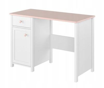 Stôl 03 LENA pre dievča dieťa rose biele