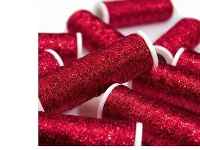 Нити металлизированные METALUX красно/розовое 60m