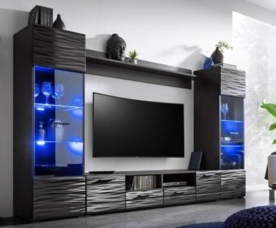 мебель комплект RTV МОДИКА стенка + LED блеск
