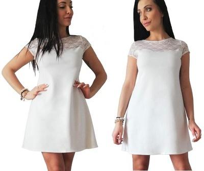 a43eadfa7cc xl* Koronkowa sukienka trapezowa 50 52 - 7556122426 - oficjalne ...