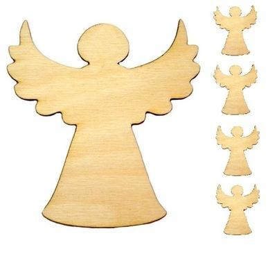 Aniołek ozdoba Drewniana święta 5cm 5szt