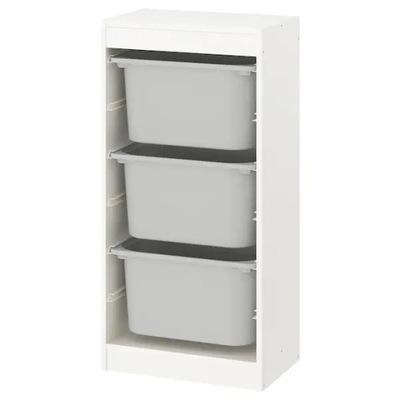 Икеа стеллаж контейнеры ТРУФАСТ 46x30x94 Белый /Серый