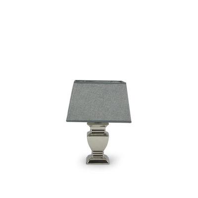 stolná Lampa štýlové malé strieborné, výška 35 cm