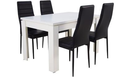 комплект 4 стулья Белый стол раздвижной ??? 160