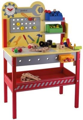 Drevený stolík na nástroje Joueco hračka darček