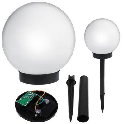 солнечная лампа для сада белая шар ЛАМПЫ LED Белый