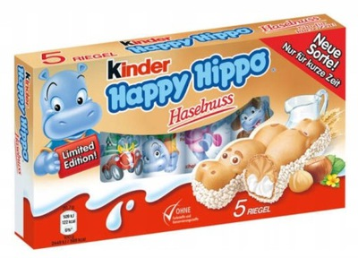 FERRERO KINDER HAPPY HIPPO HASELNUSS МОЛОКО ОРЕХИ