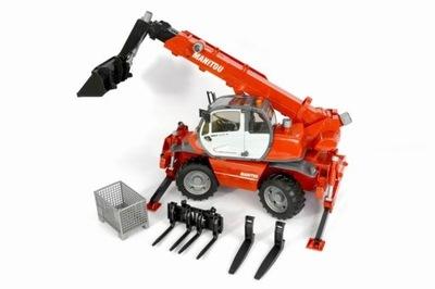BRUDER 02129 Manitou vysokozdvižný vozík s príslušenstvom