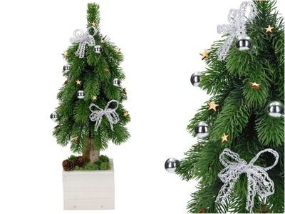 Vianočné stromčeky MINI STROM UMELÉ VIANOČNÉ JEDĽA 47 cm S5