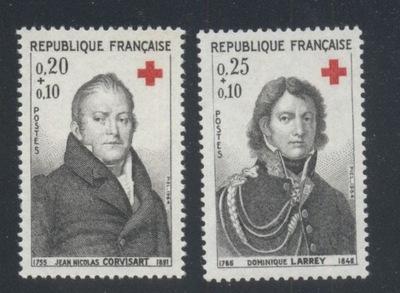 FRANCJA Mi. 1494-1495 CZYSTE** CZERWONY KRZYŻ