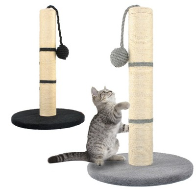 когтеточка для Кота Столбик 45см сизаль + Игрушка Цвета