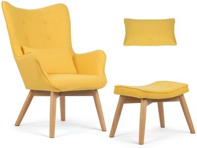 Кресло  Стиль скандинавский + подставка для ног подушка