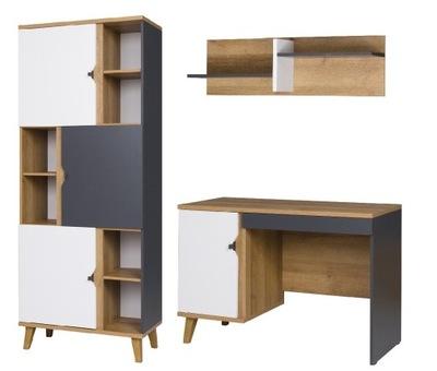 мебель MEMONE L комплект стеллаж письменный стол, стенка
