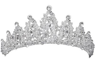L41 Korona Ślubna Ozdoba do Włosów Diadem Tiara