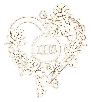 РАМКА сердце IHS  beermata 9 ,1x10,5 см WT044