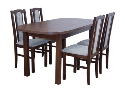 solidny komplet mebli do salonu stół + 4 krzesła
