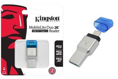 Czytnik KINGSTON Duo 3C microSD USB 3.1 + USB-C