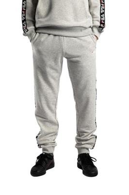 Tadeo Tape Sweat Pant Light Grey Melange Bros