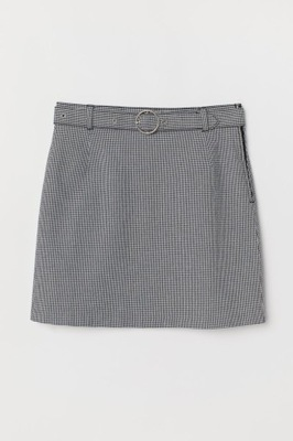 Spódnica z paskiem Pepitka H&M r. 36