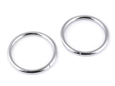 кольцо металлические портфели и сумки 25 мм серебряные