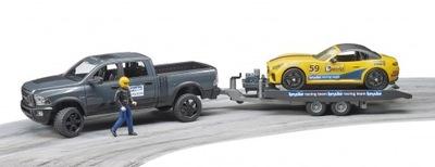 Bruder 02504 Dodge Ram ťahanie kamión a auto