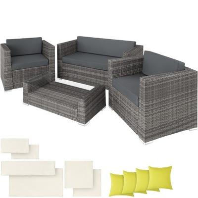 Záhradný ratanový nábytok pre terasy sivá 403085
